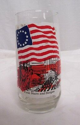 "Vintage Coca Cola Company Glass ""First Stars & Stripes"" Heritage Collector Serie"