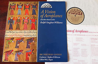 V. Williams A Vision Of Aeroplanes Choral Works Lp Wilkinson Abbey Lpb 799 Nm