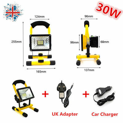 Rechargeable 30W LED Security Floodlight Outdoor Flood Light Worklight Camp Lamp