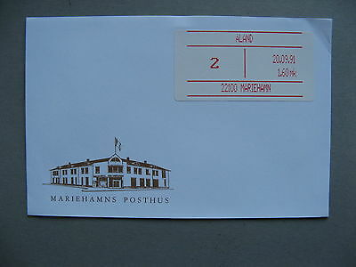 FINLAND ALAND, cover Postage Paid label 1991, 22100 Mariahamn