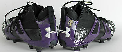 "Ravens Ray Lewis ""Game Used"" Signed Size 12.5 Under Armour Cleats JSA Witness"