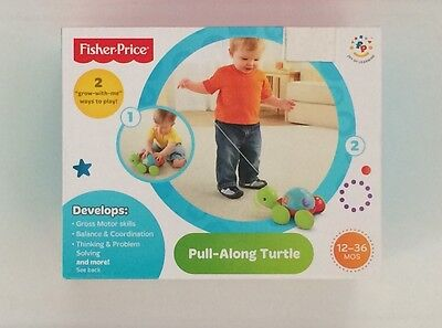 NIB Fisher-Price Pull Along Turtle
