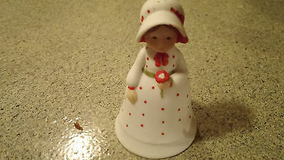 holly bell figurine bell 1979
