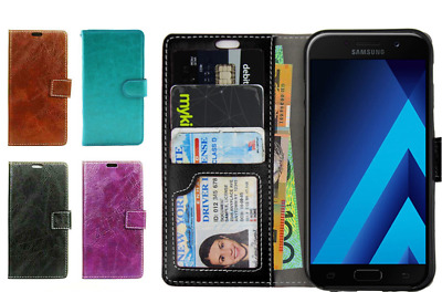 HTC U11 Case, New Luxury Flip Leather Card Wallet Cover For HTC
