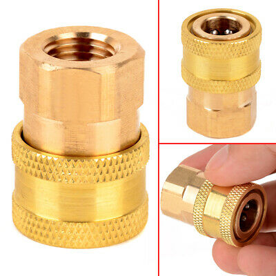 "1/4"" NPT Brass Quick Connect Coupler For Pressure Washer 12mm Inner Diameter"
