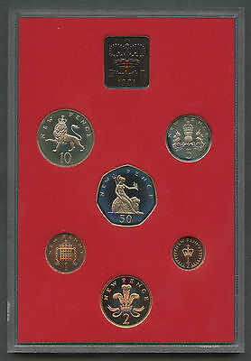 1981 Coinage of Great Britain & Northern Ireland 6 Coin Proof Set UK #1