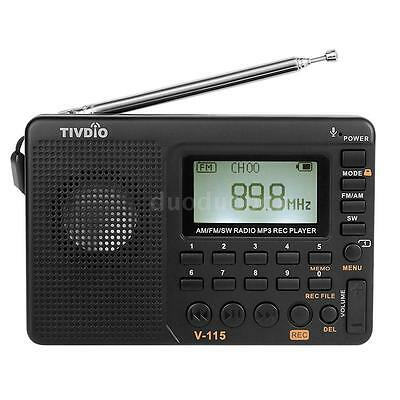 Digital Portable LCD Receiver TF SD MP3 REC Player AM FM SW Full Band Radio P6J5