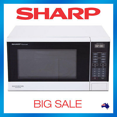 Sharp R350YW Inverter Sensor Microwave Oven Cook 1200w R350Y - White