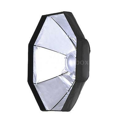 8 Pole 60cm Foldable Beauty Dish Octagon Softbox Flash Reflector Diffuser C0I6