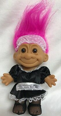 Russ MAID TROLL NEW Pink Hair 6 Inch Housekeeper