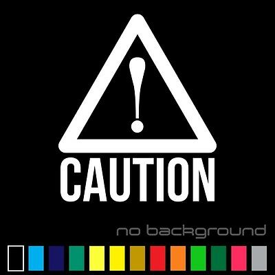 Caution Sticker Vinyl Decal - Danger Sign Work Safety Warning Triangle Wall Car