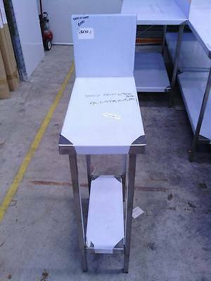NEW STAINLESS STEEL 300x600mm GRADE 304 COMMERCIAL BENCH WITH 300mm SPLASH BACK