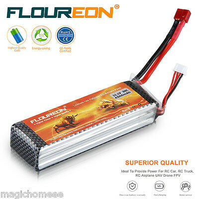 11.1V 4500mAh 3S 30C LiPo Battery Deans for RC Airplane Helicopter Car Vehicle