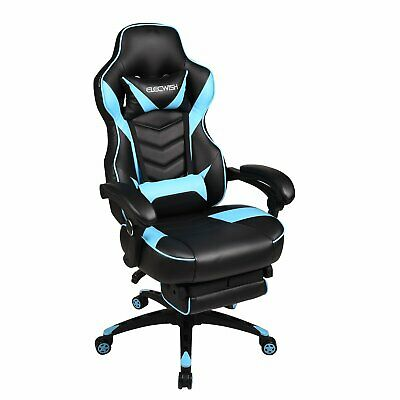 Office Gaming Chair Racing Style High Back Ergonomic Recliner Computer Footrest