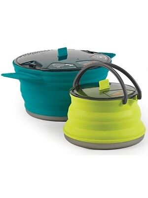 Sea to Summit X-33 Camp Cooking Set 2.8L Pot + 1.3L Kettle Collapsible & Light