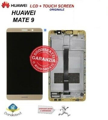 Lcd Display Huawei Mate 9 Vetro Schermo Touch Screen Frame Originale Oro Gold