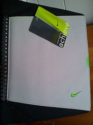 NIKE ACHIEVE LIME GREEN Canvas Pocket Portfolio Notebook Binder Folder Journal
