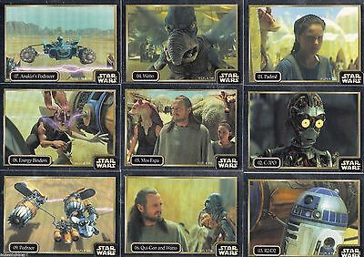 Star Wars Episode 1 - Silver Chase Foil Complete Card Set (1-60) 1997 Ikon (AUS)