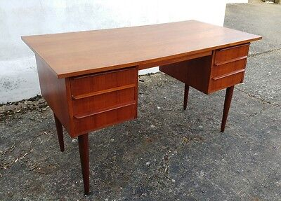 vintage danish teak desk retro