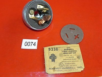 Harvey Hubbell 9338 3-Wire Armored Cord Grip Cap 0074