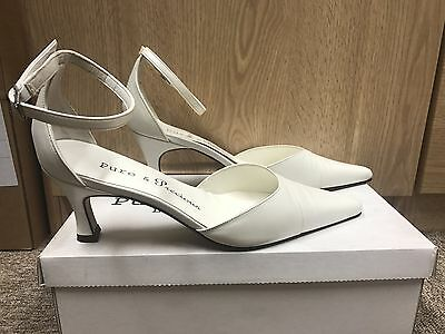 Ivory Leather Bridal Bridesmaid Shoes All Sizes By Pure And Precious BLAZE