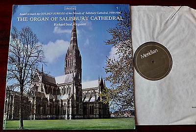 The Organ Of Salisbury Cathedral Lp Seal Meridian (1981) Nm E77045 England