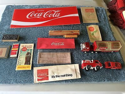 Vintage Coca Cola Lot Printing Plate,Buddy L Trucks,Check,Bottle Bags,Paper Hats