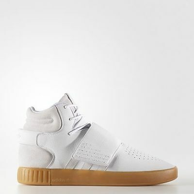 Adidas Originals Tubular Invader Strap White Gum Sole New Shoes Men BY3629