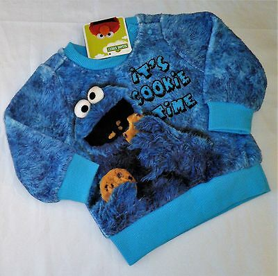 COOKIE MONSTER... New Size 00 Super Soft Licensed Jumper, New/Tag, Sesame Street