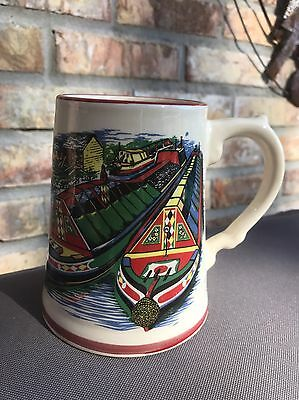 Royal Warwick Pottery Beer Stein - Made in England - River Boats Canal Boats