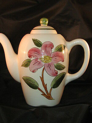 Stangl Pottery Prelude Pink & Green Tea Pot Used as Decor Only