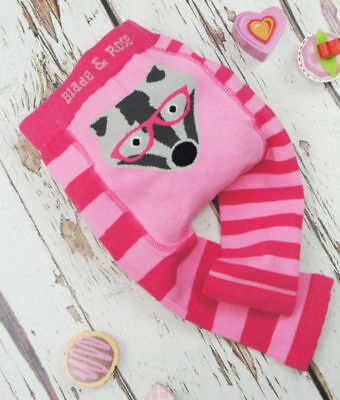 Blade & Rose pink badger leggings trousers 0-6 6-12 months 1-2 3-4 years gift