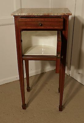 French 19th Century Inlaid Mahogany Bedside Cabinet