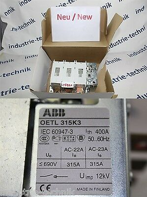 ABB OETL 315k3 LOAD BREAK SWITCH SWITCH