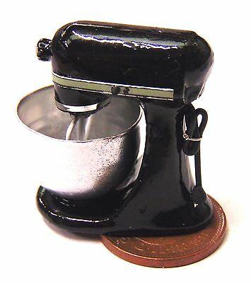 1:12 Scale Non Working Black Food Mixer Tumdee Dolls House Kitchen Accessory