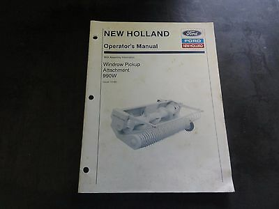 Ford New Holland 990W HD Windrow Pickup Head Operator/'s Manual 3//97 43631951