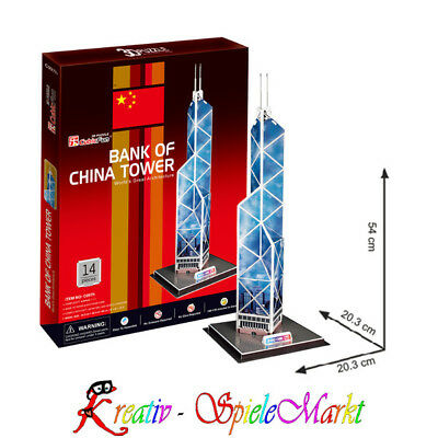 Cubic Fun - 3D Puzzle Bank of China Tower Hongkong Mittel