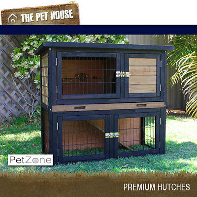 NEW Brunswick Double Storey Wood Hutch for rabbits guinea pigs