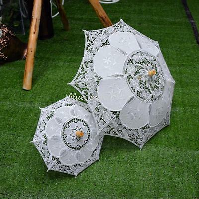 Vintage Wedding Lace Parasol Umbrella Fan Bridal Party Decoration Photo Props