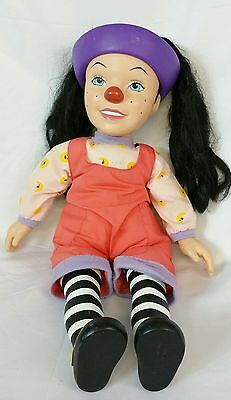 """The Big Comfy Couch Loonette Doll 15"""" Clown Doll Soft Body Vinyl Head 1997 HTF"""