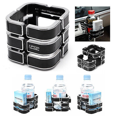 Black Universal ABS Plastic Car Truck Drink Bottle Cup Phone Holder Stand New