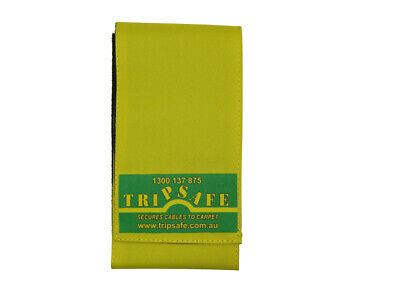 Tripsafe Cable Cover for Carpet - 10m in Grey, Yellow