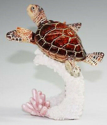 SHELTON   Brown Sea Turtle    Statue figurine  H5""