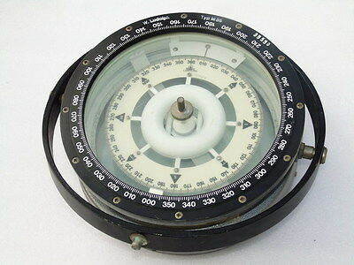 Huge 12 Inch W. Ludolph Typ M55 Ships Marine Binnacle Magnetic Compass