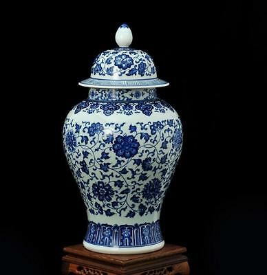 chinese Jingdezhen  ancient Blue and white porcelain sculpture flower vase