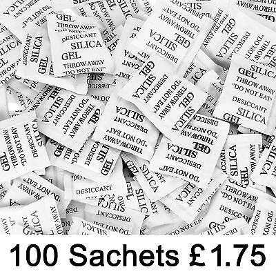 Silica Gel Desiccant 100 x 1g sachets Factory Fresh Choose 100, 200 or 500 packs