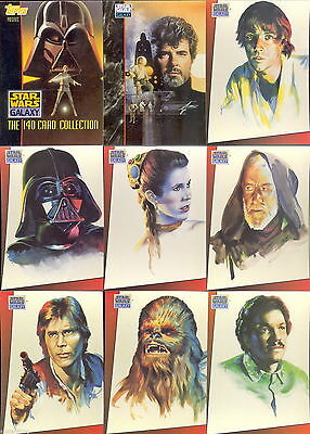 Star Wars Galaxy Series 1 - Complete Card Set (1-140) 1993 Topps @ Near Mint