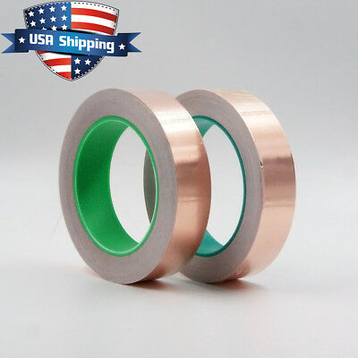 2Pcs Copper Foil Tape - 1in x 28yds  -  EMI Conductive Adhesive