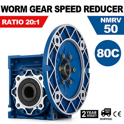 MRV050 Worm Gear 20:1 80C Speed Reducer Aluminum Pro 1750RPM New Generation