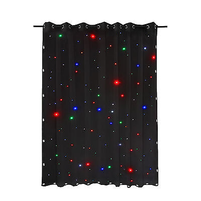 LED Stage Star Backdrop DMX Drape Matrix DJ 8Ch Wedding Curtain Retardant 3 x 2m